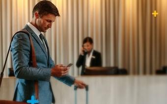 Reserva de hotéis em viagens de negócios